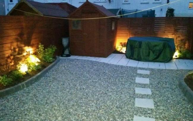 Noel's back garden after