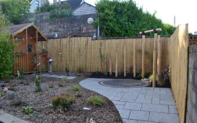 Henry's back garden after