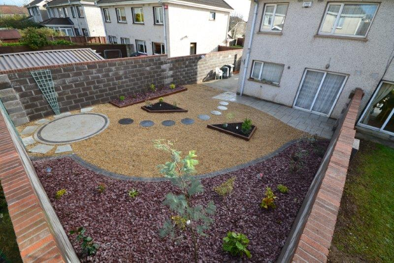 garden design with slight slope